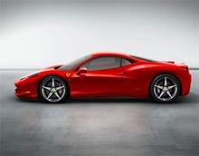 Суперкар Ferrari 458 Italia