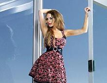 Стильная модель Lindsay Lohan