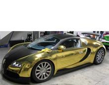 Золотой Bugatti Veyron