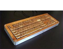 Деревянная клавиатура «Scrabble Keyboard»